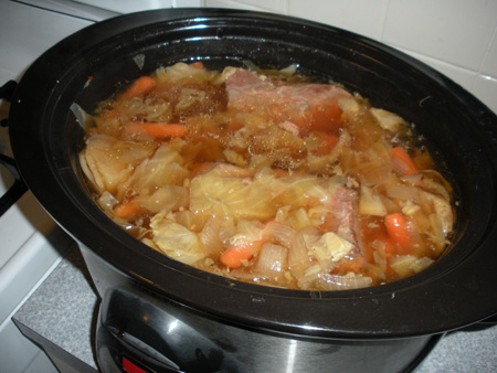 Crock Pot Corned Beef and Cabbage with Beer