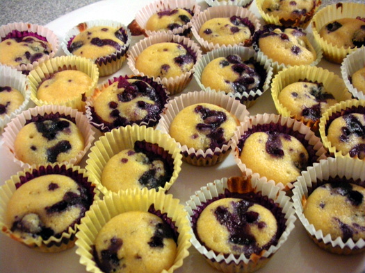 blueberries soaked in wine cornbred muffins