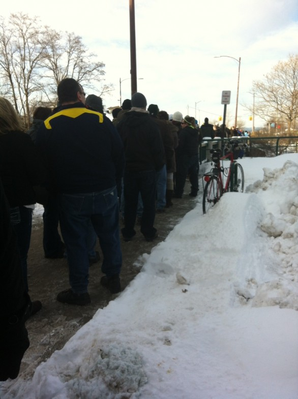 line at traverse city microbrew festival