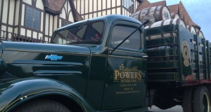 Parked out front was a classic Powers Distributing truck.